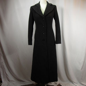 DKNY Charcoal Long Wool Cashmere Winter Coat